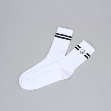 Polar Stroke Logo Socks White / Black