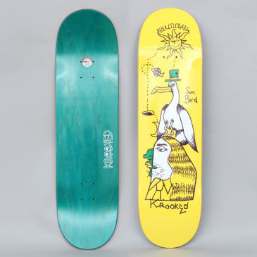Krooked 8.5 Sandoval Sunbird Pro Skateboard Deck Yellow