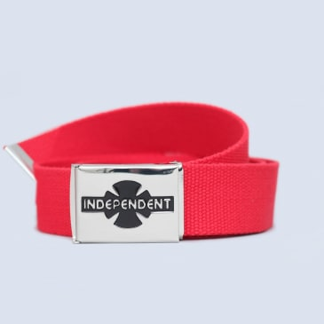 Independent Clipped Belt Cardinal Red