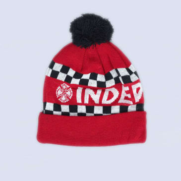 Independent Finishline Beanie Cardinal Red