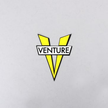 Venture V Die Cut Small Sticker Yellow