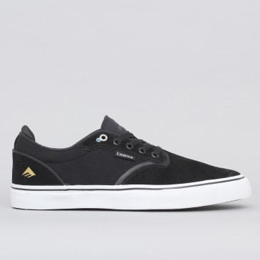 Emerica Dickson Shoes Black / White / Gold
