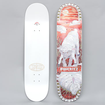 Real 8.06 Busenitz Cathedral II Full Skateboard Deck Red / White Dipped