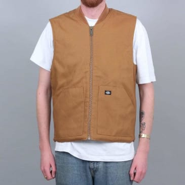 Dickies Dellwood Vest Jacket Brown Duck