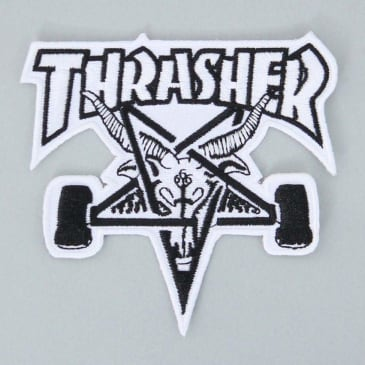 Thrasher SK8 Goat Patch White / Black