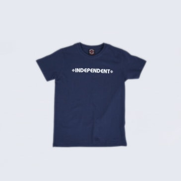 Independent Bar Cross Youth T-Shirt Navy