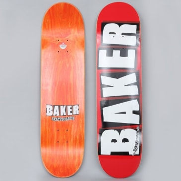 Baker 8.125 Brand Logo Skateboard Deck Red / White