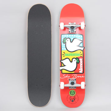 Almost 7.5 Double Doves Skateistan Complete Skateboard Red
