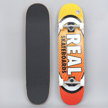 Real 7.75 Team Oval Heatwave Medium Complete Skateboard Yellow / Red