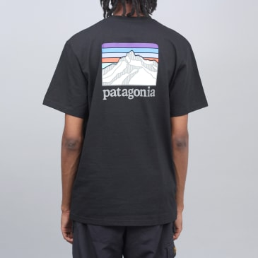 Patagonia Line Logo Ridge Pocket Responsibili T-Shirt Black