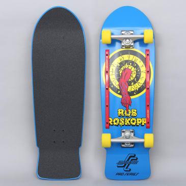 Santa Cruz 10 Roskopp Target 80's Complete Skateboard Blue
