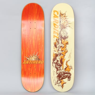 Anti Hero 8.4 Cardiel Getaway Sticks Skateboard Deck Cream