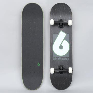 Birdhouse 8 Stage 3 B Logo Complete Skateboard Black / Green