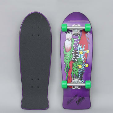 Santa Cruz 8.7 Slasher Mini 80's Complete Skateboard Purple
