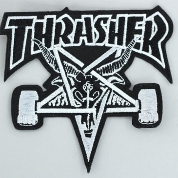 Thrasher Sk8 Goat Patch Black / Silver