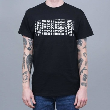 917 Typography T-Shirt Black