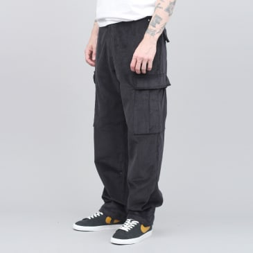 Pop Trading Cargo Pants Black Cord