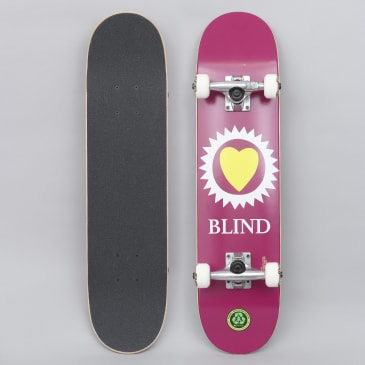 Blind 7 Heart Youth Complete Skateboard Maroon