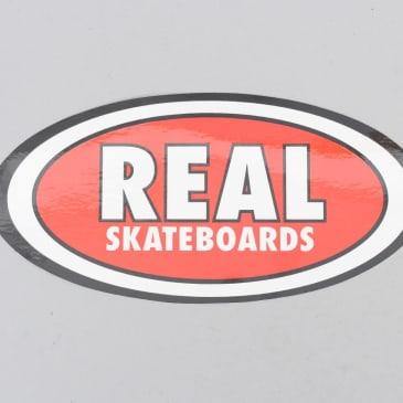 Real Classic Oval Sticker Red