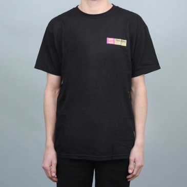 5Boro VHS Stack T-Shirt Black Gold