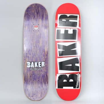 Baker 8.475 Brand Logo Skateboard Deck Red / Black / White