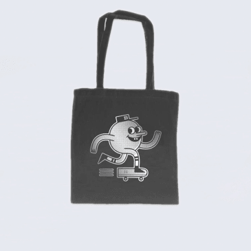Blast Skates Tote Bag Black