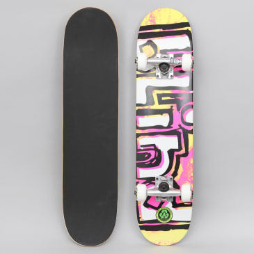 Blind 6.75 OG Water Colour Soft Top Complete Skateboard Yellow / Pink