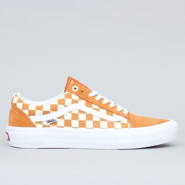 Vans Old Skool Pro Shoes (Checkerboard) Golden Oak