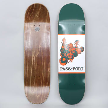 Passport 8.5 Ducks In A Row Skateboard Deck Green