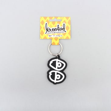 Krooked Eyes Key Chain Black / White
