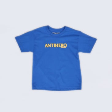 Anti Hero Long Blackhero Youth T-Shirt Royal / Yellow