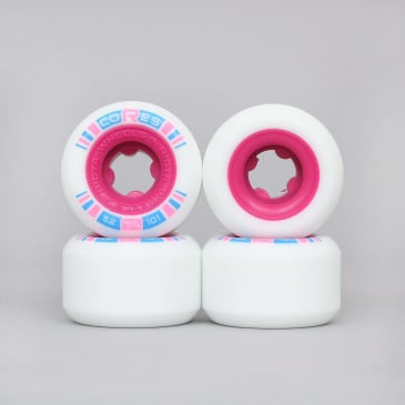 Ricta 52mm 101A Cores Skateboard Wheels White / Neon Pink