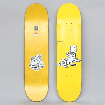 Polar 7.875 Halberg After Work Skateboard Deck Yellow