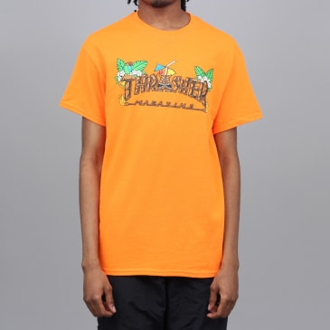 Thrasher Tiki T-Shirt Safety Orange