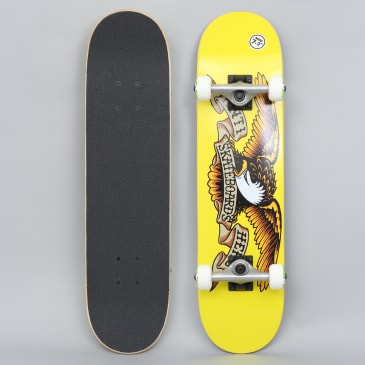 Anti Hero 7.3 Classic Eagle Mini Complete Skateboard Yellow