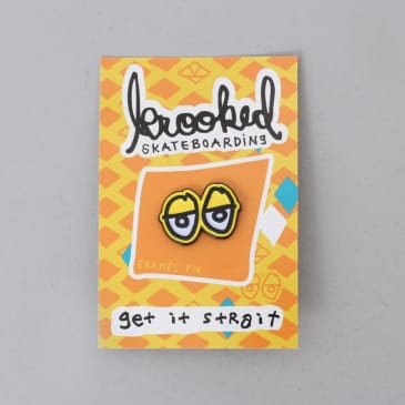Krooked Eyes Lapel Pin Yellow / Black