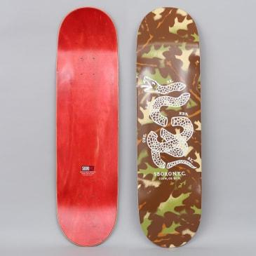 5Boro 8.375 DIY Skateboard Deck Camo Leaf Green