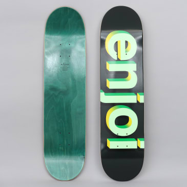 Enjoi 7.75 Helvetica Neue Skateboard Deck Green Half Tone