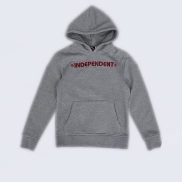 Independent Bar Cross Youth Hood Dark Heather