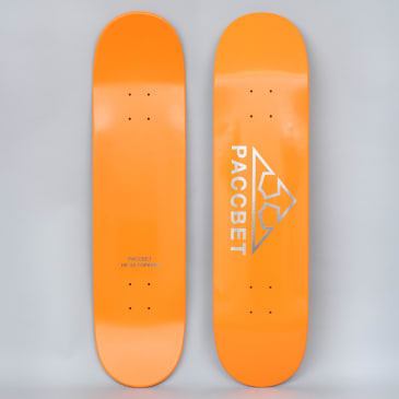 Paccbet 8 Paccbet Logo Skateboard Deck Orange