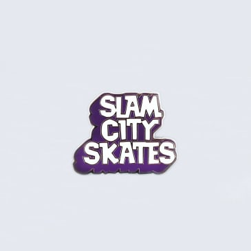 Slam City Skates Enamel Pin Badge Maroon / White