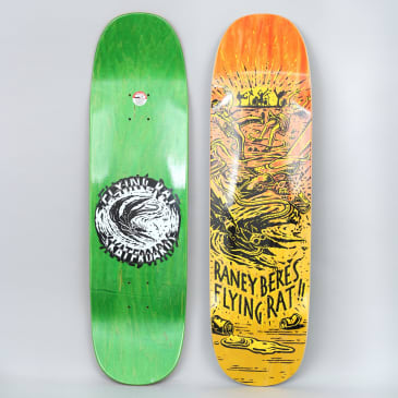 Anti Hero 8.63 Beres Flying Rat II Skateboard Deck Yellow