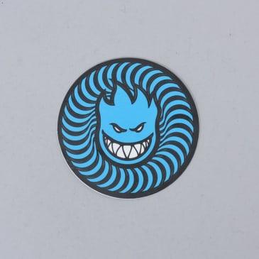 Spitfire Swirl Head Sticker Blue