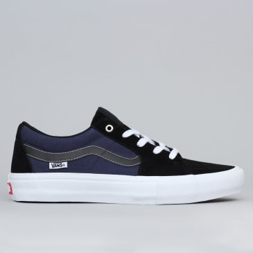 Vans Sk8-Low Pro Shoes (Streetmachine) Black / Dark Blue / Traditional White