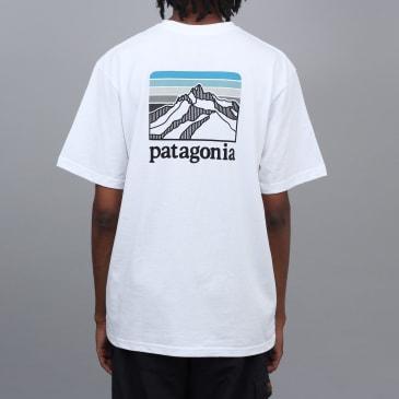 Patagonia Line Logo Ridge Pocket Responsibili T-Shirt White