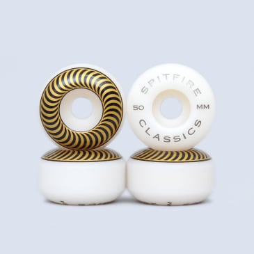 Spitfire 50mm Classic Wheels White