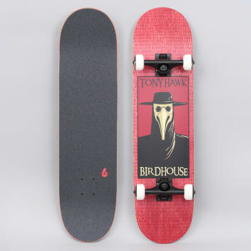 Birdhouse 8 Stage 3 Plague Doctor Complete Skateboard Red