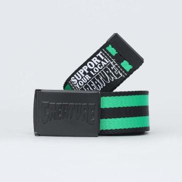 Creature Logo Stamp Web Belt Black / Green