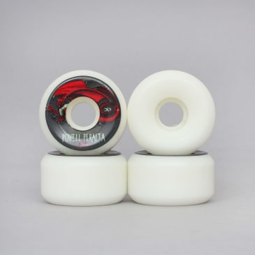 Powell Peralta 56mm 90A Oval Dragon Skateboard Wheels White / Red