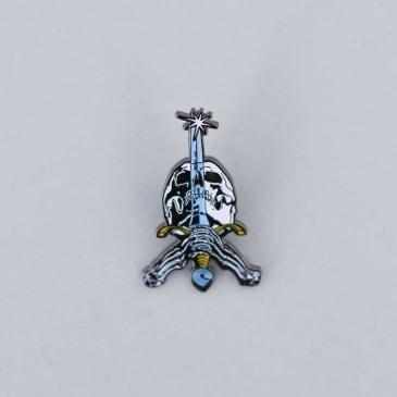 Powell Peralta Skull & Sword Lapel Pin Badge